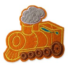 GOLDEN TRAIN MOTIF IRON ON EMBROIDERED PATCH APPLIQUE